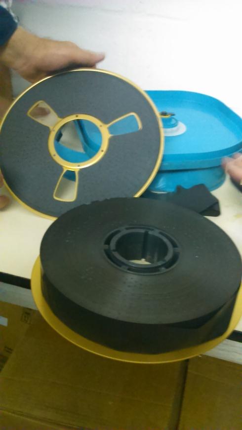3M Scotch Quad tape with protective foam.