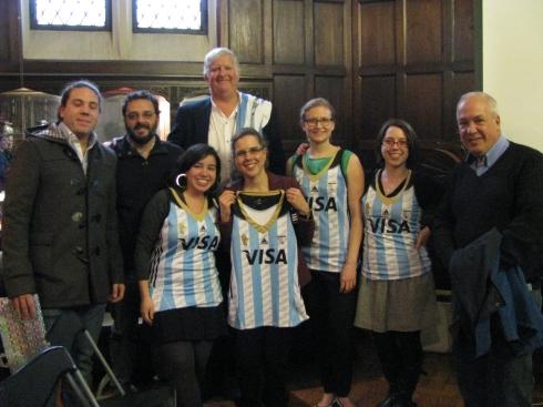 Con la camiseta puesta! TVP team at NYU Colloquium.